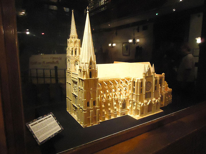 Notre Dame Cathedral (Paris)-Gigantic Sculptures Made Using Simple Matchsticks-3
