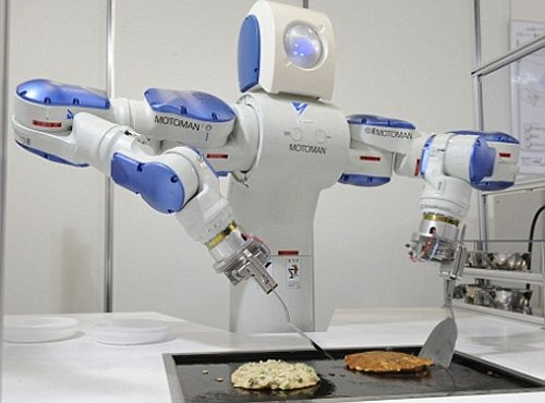 Robot Helping In Kitchen