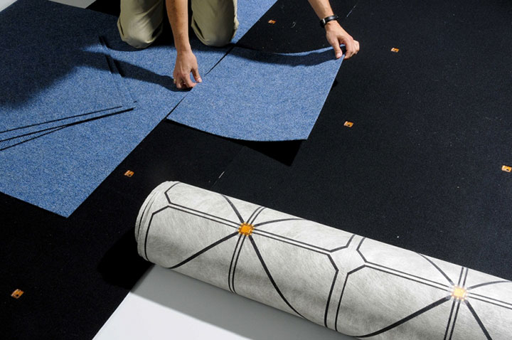 SensFloor: An Intelligent Ground Mat Detects And Calls For Help When Someone Falls (Video)-5