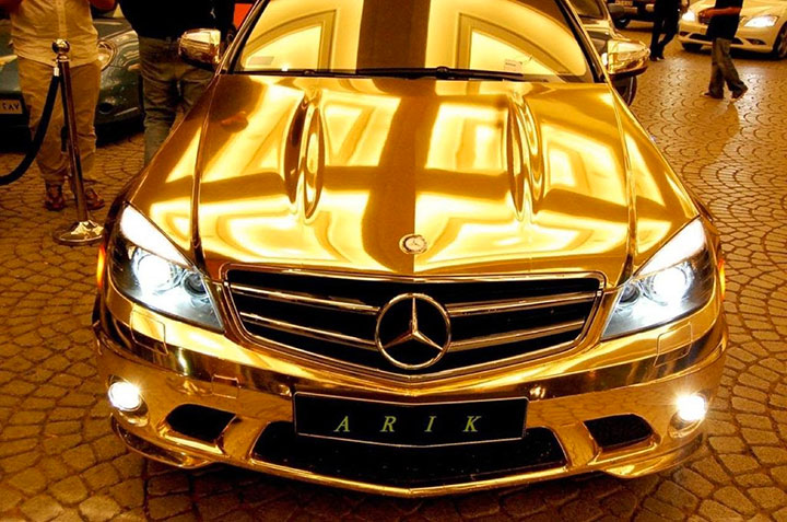 The gold plated car-20 Completely Strange And Original Cars For The Roads (Photo Gallery)-13