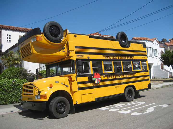 The split School bus-20 Completely Strange And Original Cars For The Roads (Photo Gallery)-18