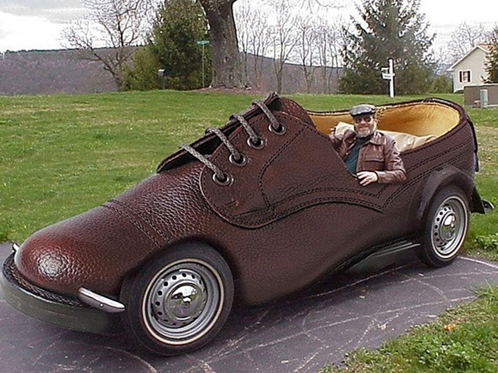 The shoe car-20 Completely Strange And Original Cars For The Roads (Photo Gallery)-19