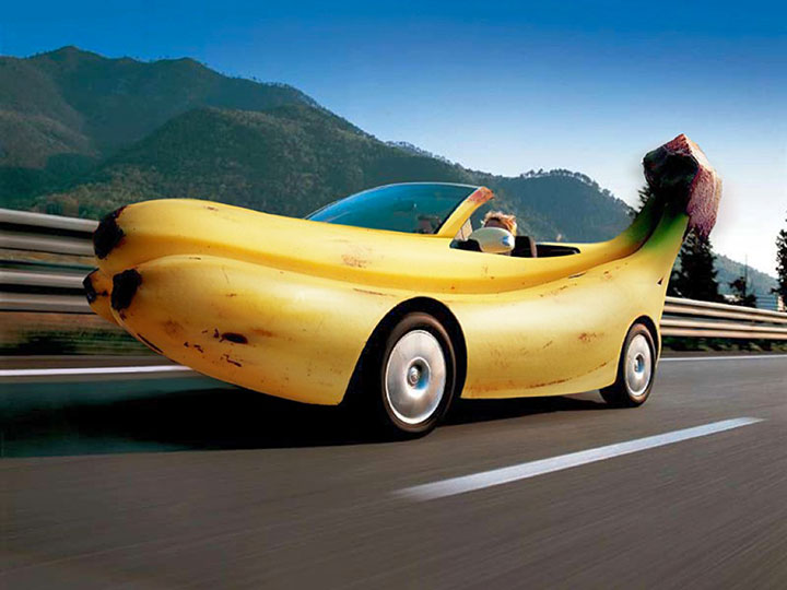 The Banana car-20 Completely Strange And Original Cars For The Roads (Photo Gallery)-4