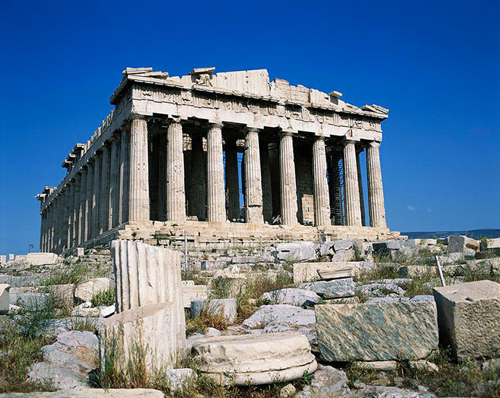 The Acropolis-The real surroundings Of Famous Tourist Destination Monumentsstcard-11