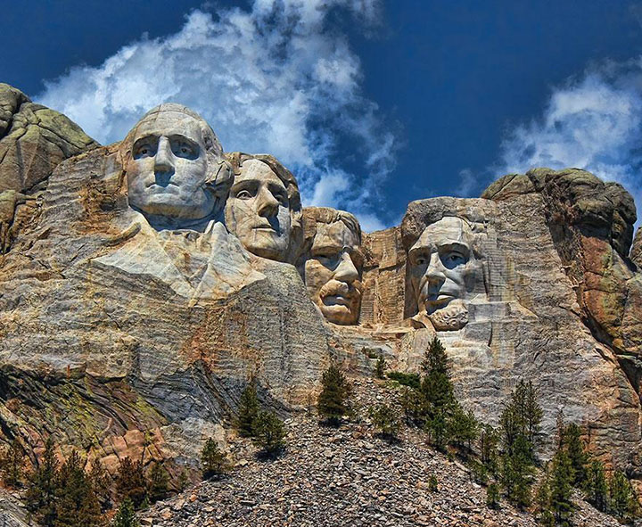 Mount Rushmore-The real surroundings Of Famous Tourist Destination Monumentsstcard-17