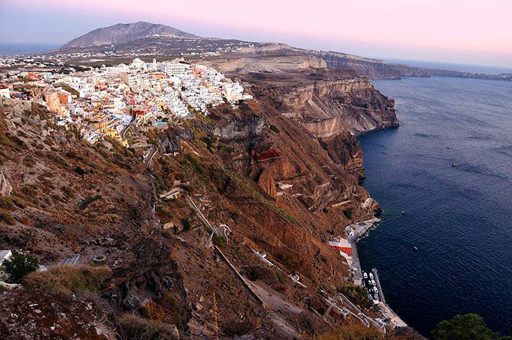 Santorini-The real surroundings Of Famous Tourist Destination Monumentsstcard-23