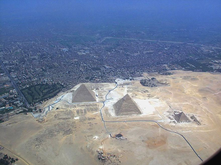 The Pyramids of Giza-The real surroundings Of Famous Tourist Destination Monumentsstcard-3