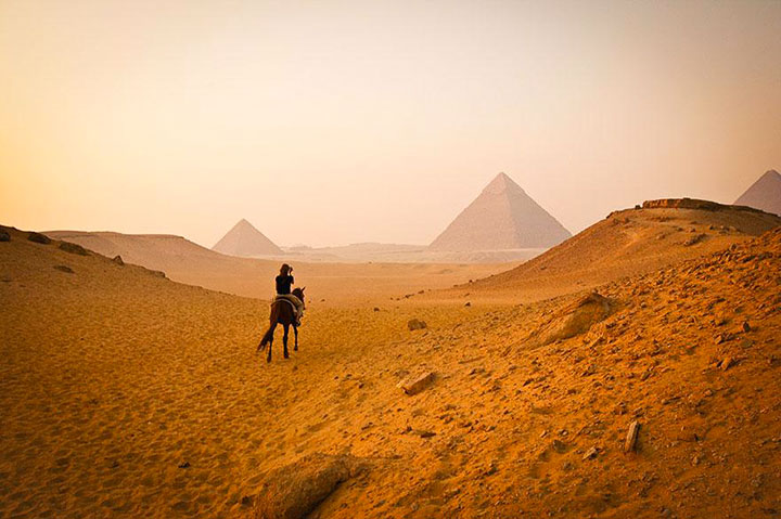 The Pyramids of Giza-The real surroundings Of Famous Tourist Destination Monumentsstcard-4