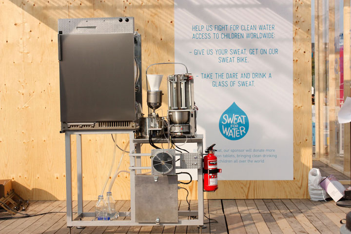 Sweat Machine Turns Your Sweat Into Fresh And Pure Water-