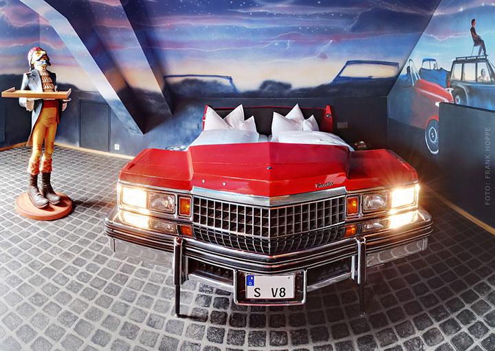 V8 Hotel-A Hotel Dedicated To Automobiles Lets You Sleep In The Most Comfortable Cars (Photo Gallery)-1