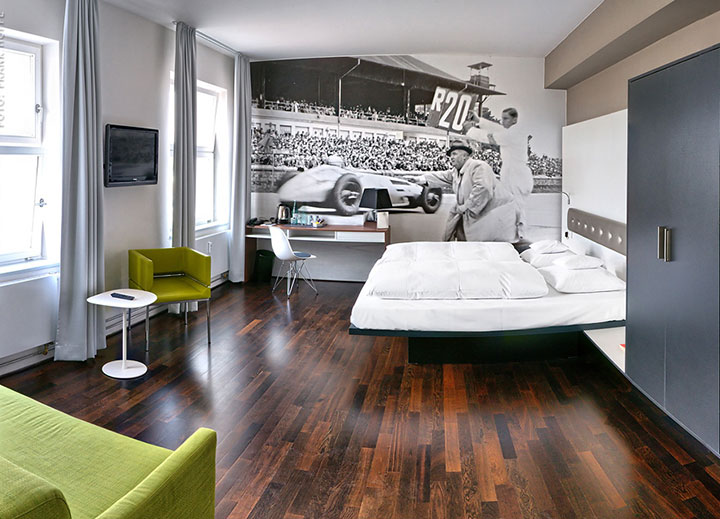 V8 Hotel-A Hotel Dedicated To Automobiles Lets You Sleep In The Most Comfortable Cars (Photo Gallery)-13