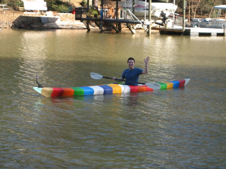World'd First Fully Functional Kayak Made Using 3D Printing-1