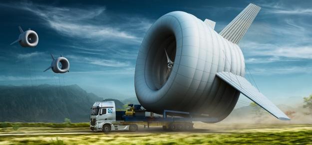 balloon mounted turbine