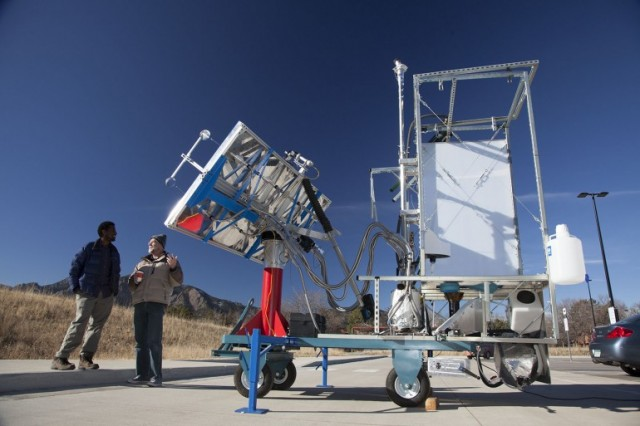 Solar Toilet made by Colorado Boulder University in India