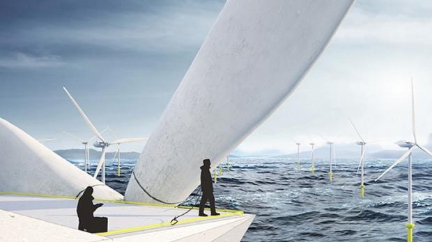 wind turbine with balloon
