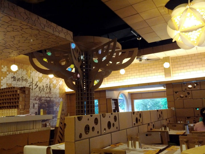 An Unusual Taiwanese Restaurant Made Entirely Of Cardboard-3