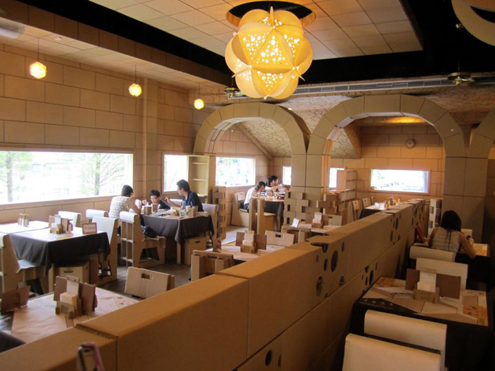 An Unusual Taiwanese Restaurant Made Entirely Of Cardboard-6