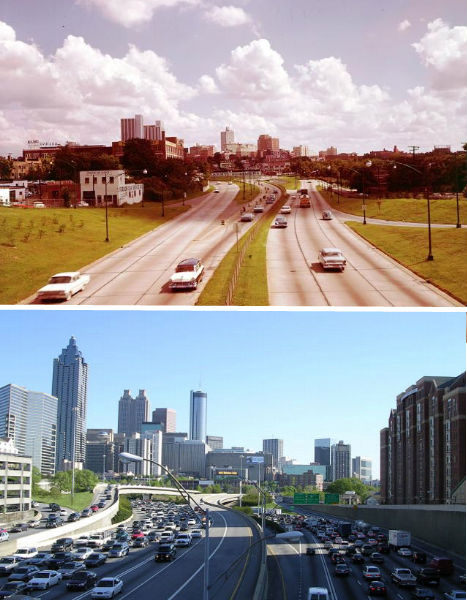 Atlanta 1964 - 2004-The Change In The Skyline Of World's Top 11 Most Famous Cities-12