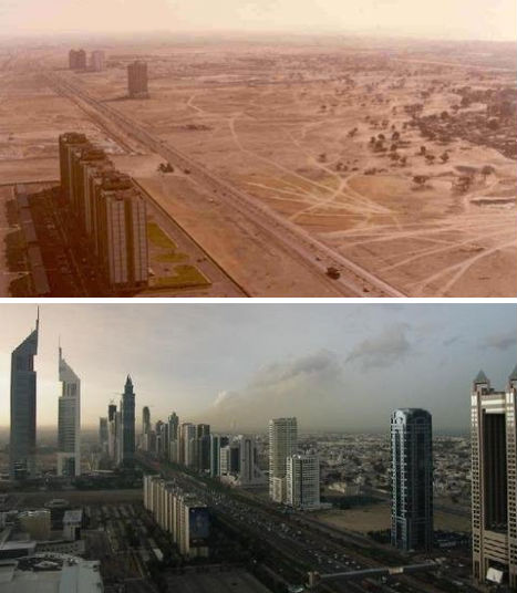 Dubai 1990 - 2003 - 2007-The Change In The Skyline Of World's Top 11 Most Famous Cities-3