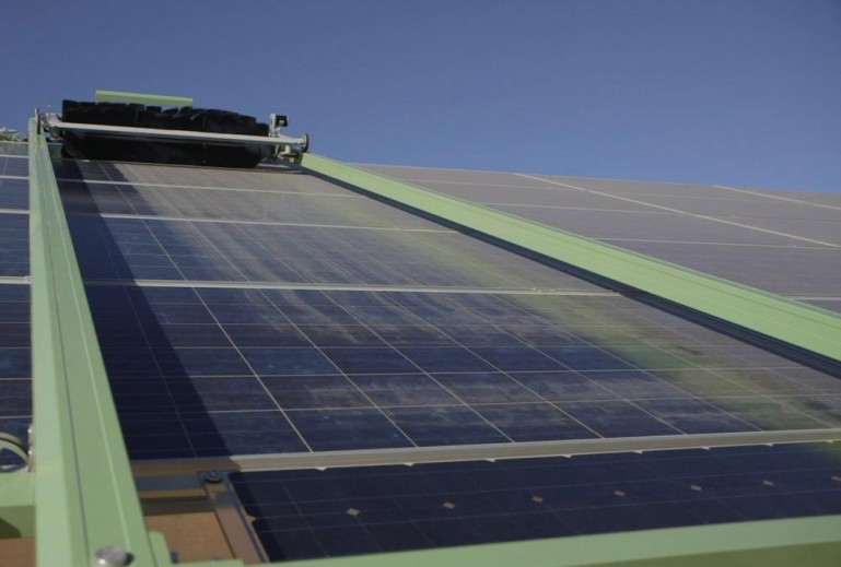 Fully Automated Robotic Cleaning Makes Solar Panels More