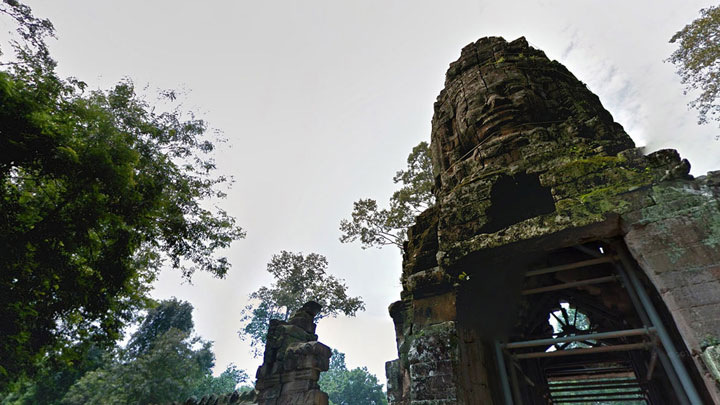 Google Street View Takes You To The Gigantic Temples of Cambodia-16