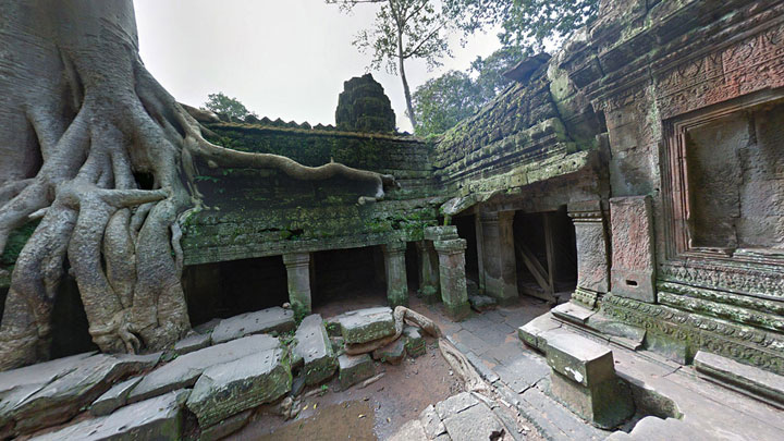 Google Street View Takes You To The Gigantic Temples of Cambodia-19