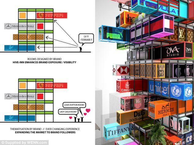 Modular Hive-like building