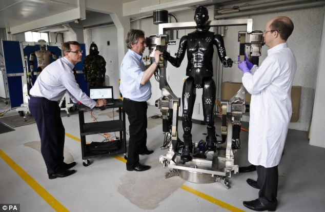 Porton Man being tested