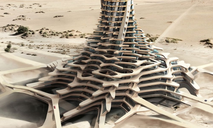 Sand Babel: A Desert City Concept With 3D printed Skyscrapers -