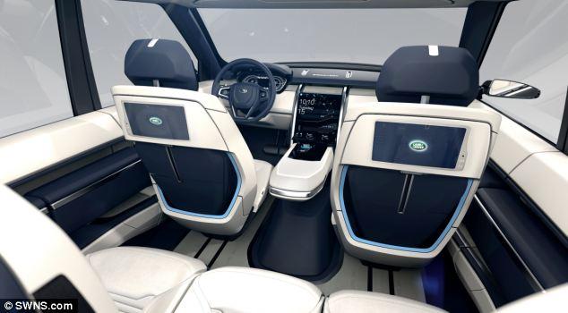 Seats of New Range Rover Concept car