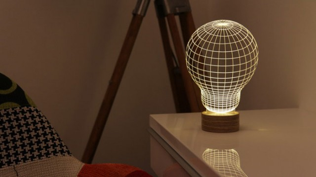 BULBING: A Flat LED Lamp That Gives ILLUSION Of 3D Shapes-2