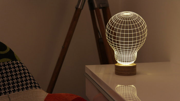 Bulbing A Flat Led Lamp That Gives Illusion Of 3d Shapes