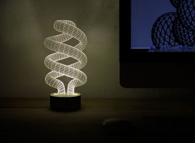 BULBING: A Flat LED Lamp That Gives ILLUSION Of 3D Shapes-4