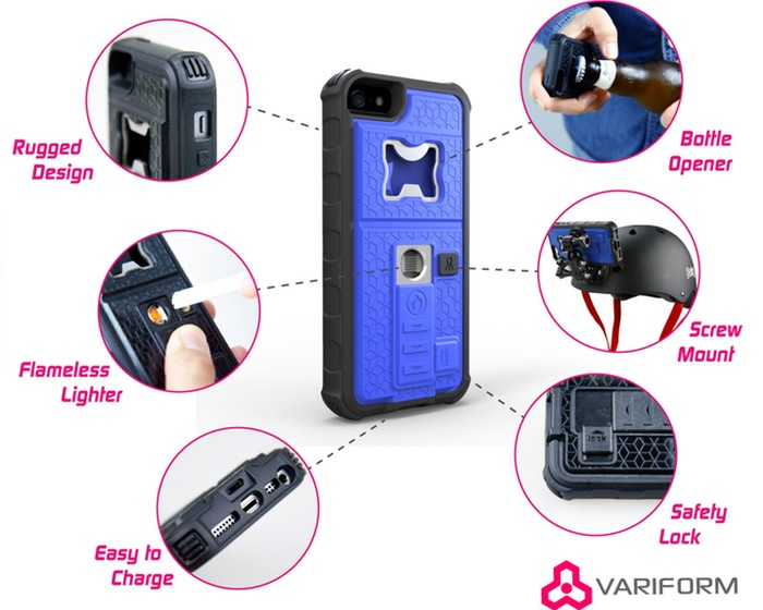 hangout multi functional iphone case can even serve as lighter. Black Bedroom Furniture Sets. Home Design Ideas