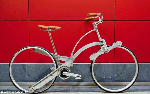 Amazing Hubless Origami Bicycle Fold Like An Umbrella-
