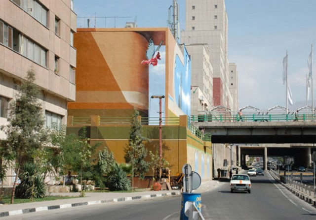 Mehdi Ghadyanloo An Urban Artist Turns Streets Of Tehran Into Art Gallery-11