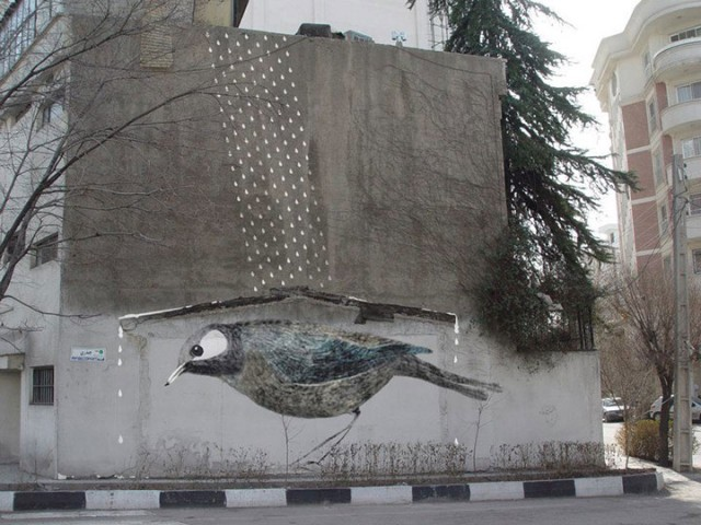 Mehdi Ghadyanloo An Urban Artist Turns Streets Of Tehran Into Art Gallery-13