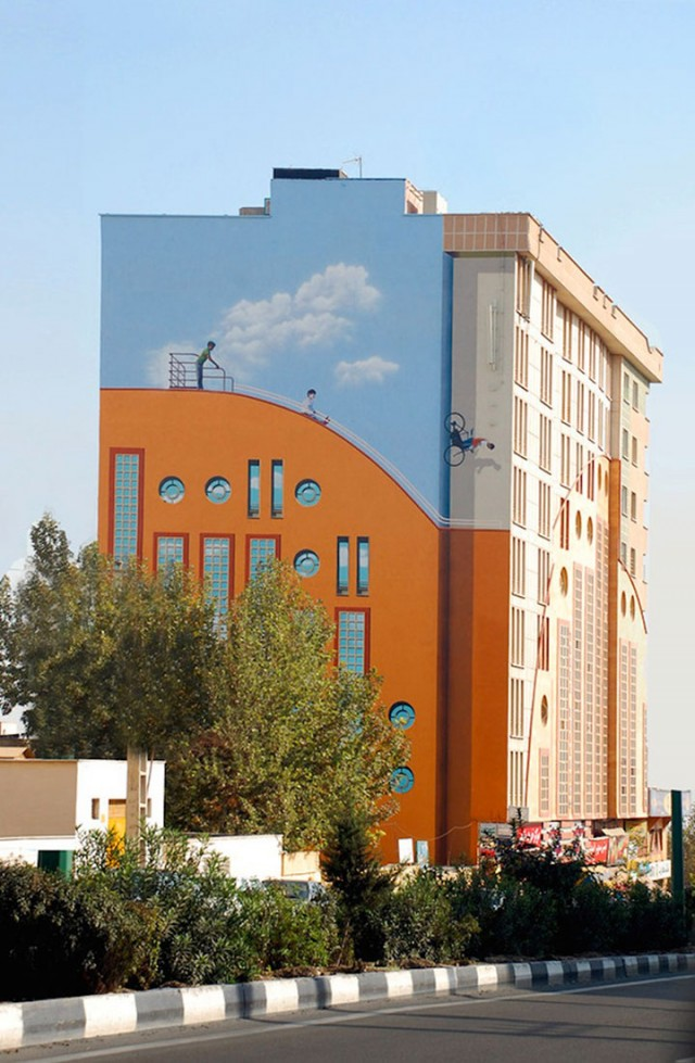 Mehdi Ghadyanloo An Urban Artist Turns Streets Of Tehran Into Art Gallery-14