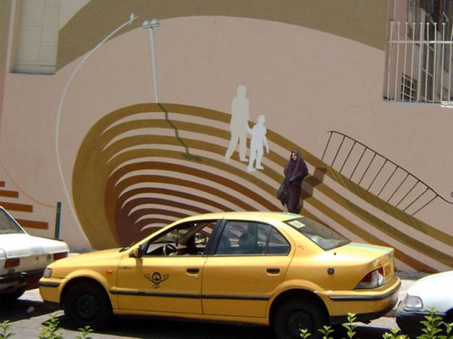 Mehdi Ghadyanloo An Urban Artist Turns Streets Of Tehran Into Art Gallery-15