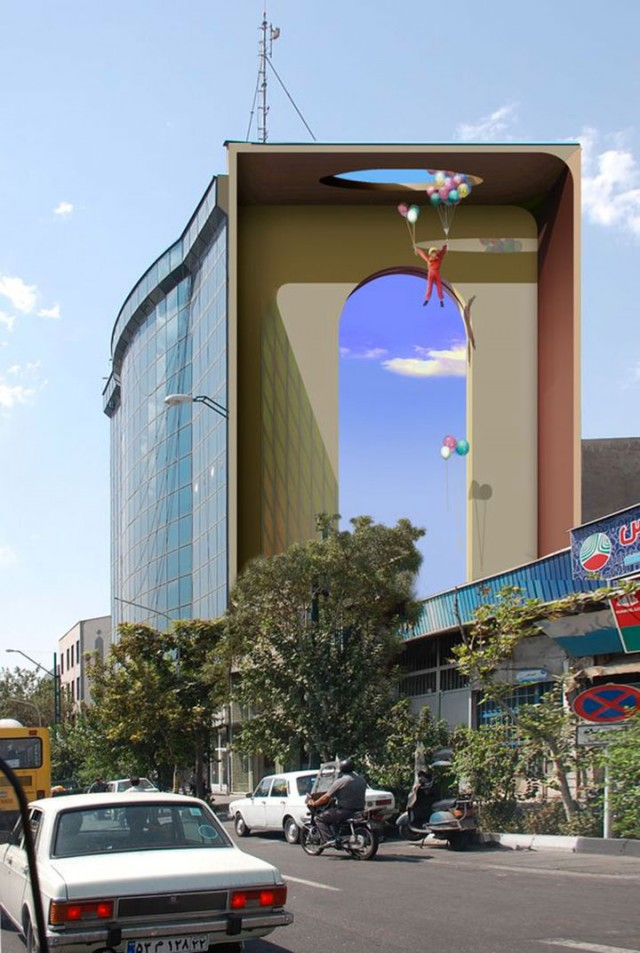 Mehdi Ghadyanloo An Urban Artist Turns Streets Of Tehran Into Art Gallery-18
