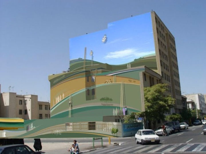 Mehdi Ghadyanloo An Urban Artist Turns Streets Of Tehran Into Art Gallery-8