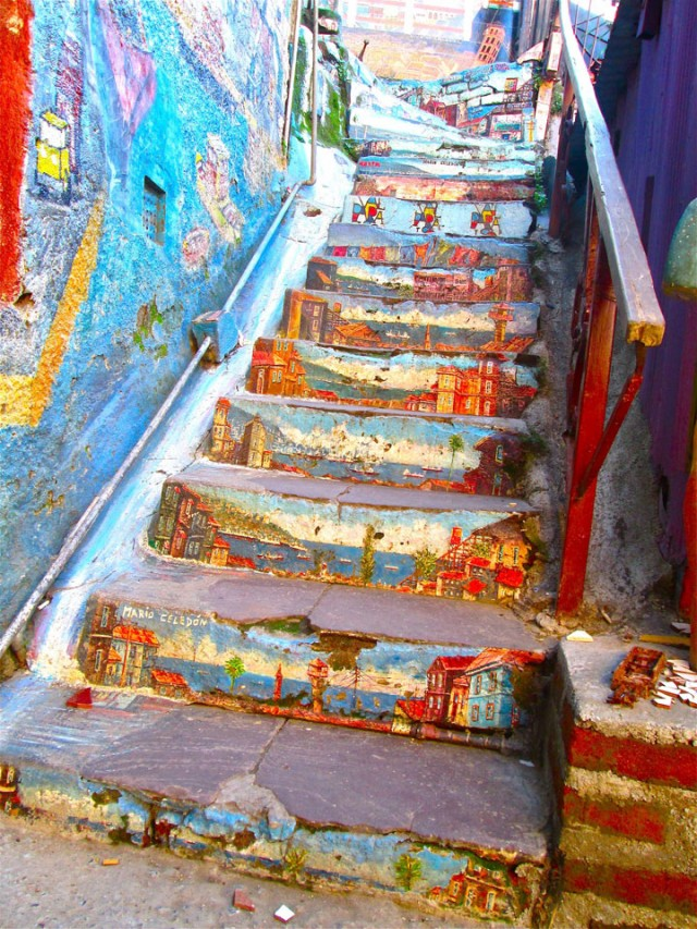Valparaiso - Chile-Top 17 Most Beautiful Stairs That Will Make You Dreaming-4