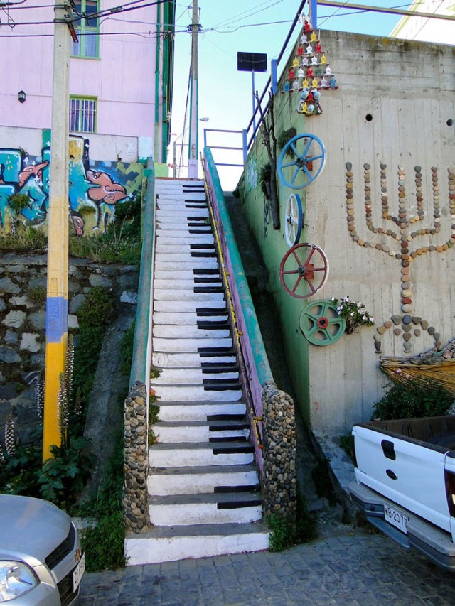 Valparaiso - Chile-Most Beautiful Stairs That Will Make You Dreaming-