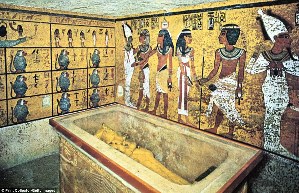 An exact replica of pharaoh tutankhamun tomb created using for Ancient egyptian tomb decoration