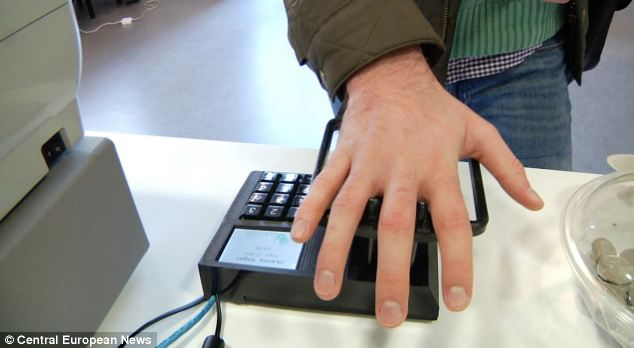 Palm Detection biometric system