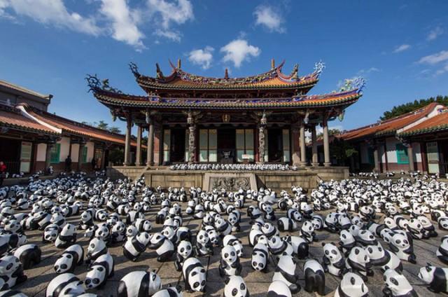 1600 Paper Mache Pandas Invade The City Of Hong Kong-4