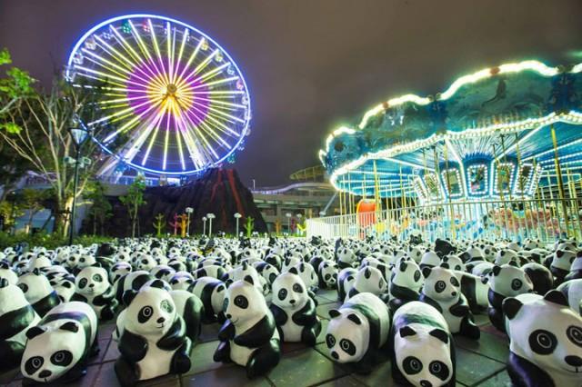 1600 Paper Mache Pandas Invade The City Of Hong Kong-7