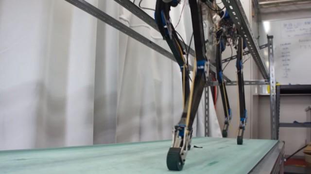 Pneupard: A Quadruped Robot Walks Like A Cheetah Using Artificial Muscles-3