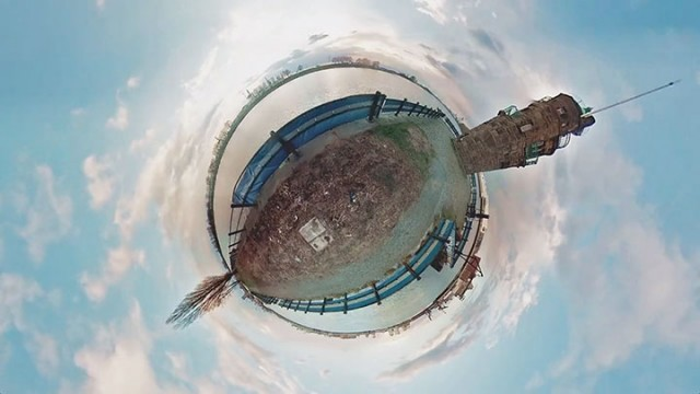 An Amazing Tiny planet Panorama Video Created Using 6 GoPro Cameras-1