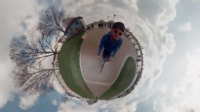 An Amazing Tiny planet Panorama Video Created Using 6 GoPro Cameras-2